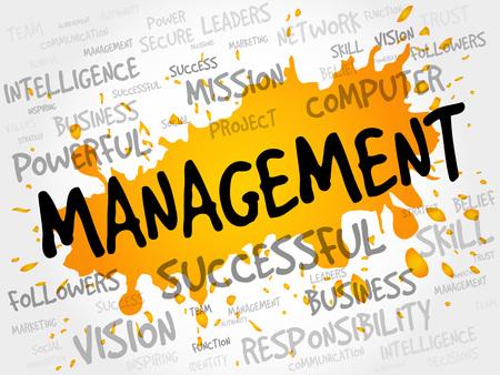 managment: MANAGEMENT word cloud, business concept