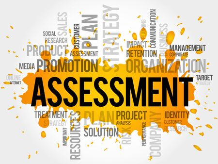 assessment: Assessment word cloud, business concept Illustration