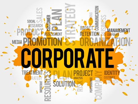 trade union: CORPORATE word cloud, business concept
