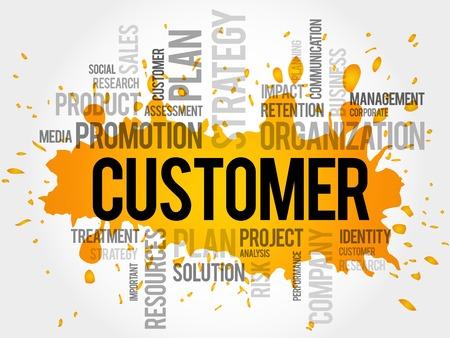 CUSTOMER word cloud, business concept Illustration