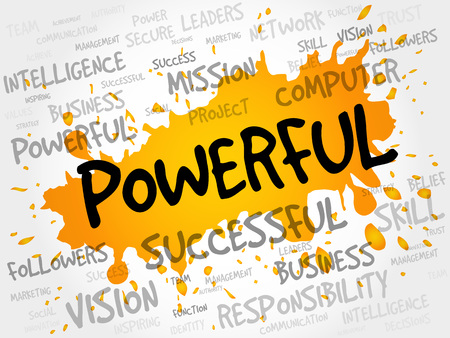 charismatic: POWERFUL word cloud, business concept