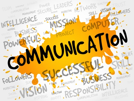 business communication: COMMUNICATION word cloud, business concept