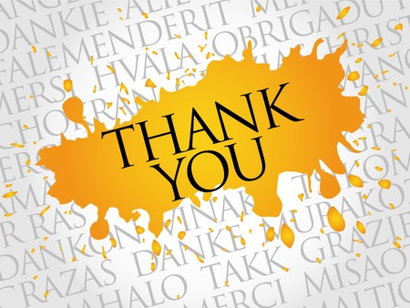 metadata: Thank You Word Cloud in vector format