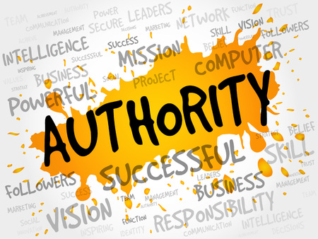 perceived: AUTHORITY word cloud, business concept