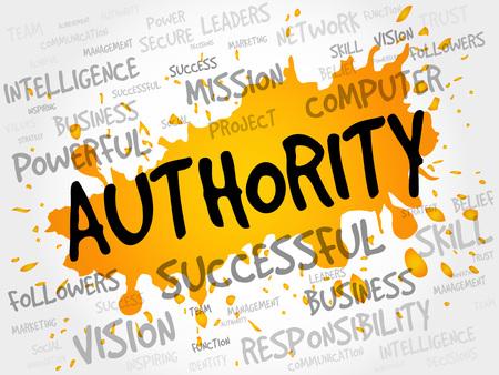 AUTHORITY Wortwolke, Business-Konzept Vektorgrafik