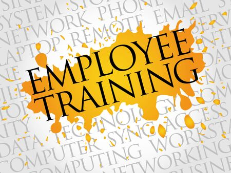 studing: Employee Training word cloud concept Illustration