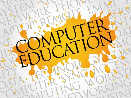 computer education: Computer Education word cloud concept Illustration