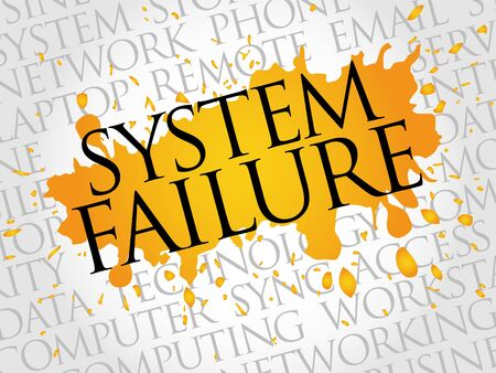 hacked: System Failure word cloud concept Illustration