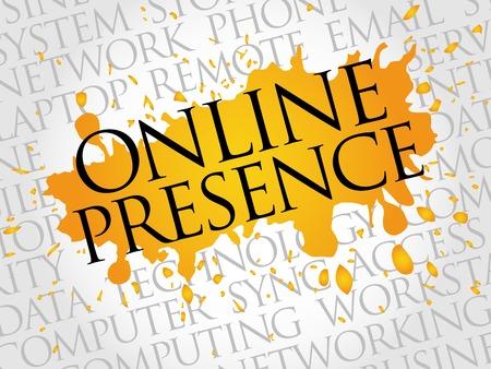 presence: Online Presence word cloud concept