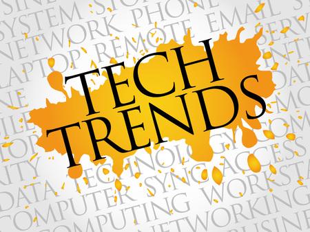 trends: Tech Trends word cloud concept