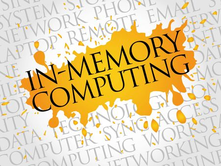 computation: In-Memory Computing word cloud concept