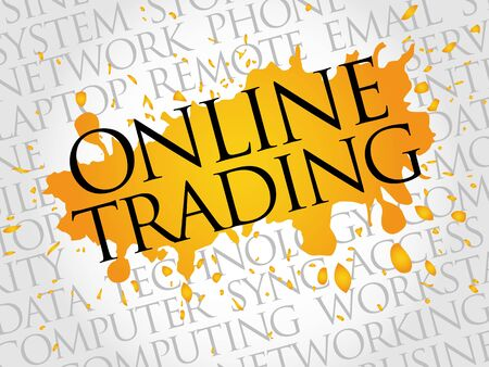 online trading: Online Trading word cloud concept Illustration