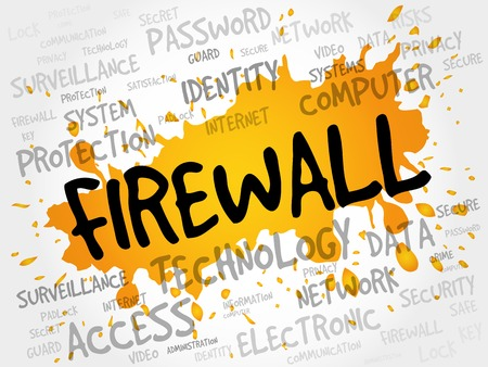 firewall: FIREWALL word cloud, security concept