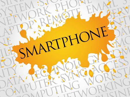smartphone: Smartphone word cloud concept