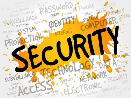 intruder: SECURITY word cloud, business concept