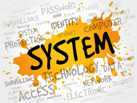 allocation: SYSTEM word cloud, business concept Illustration