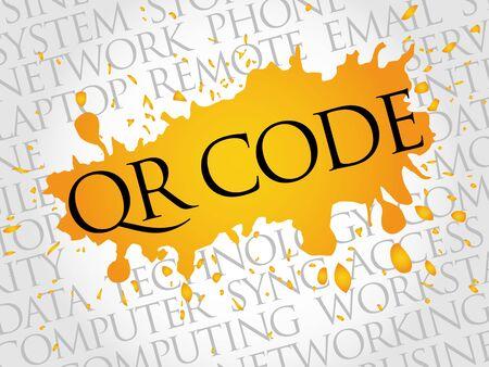QR code word cloud concept
