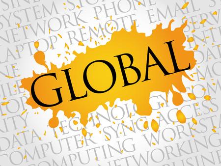 noticeable: Global word cloud concept