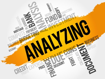 analyzing: ANALYZING word cloud, business concept