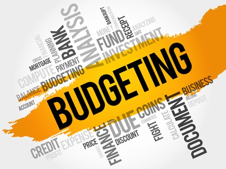 budgeting: BUDGETING word cloud, business concept