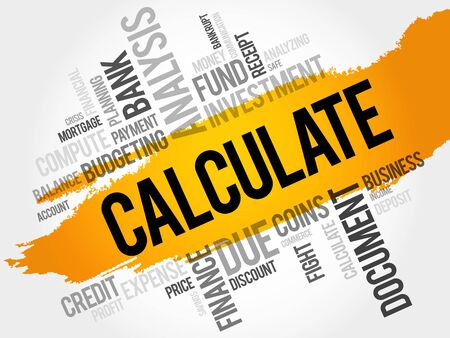 quantitative: CALCULATE word cloud, business concept