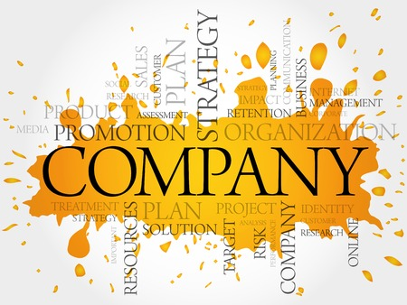 personality development: COMPANY word cloud, business concept