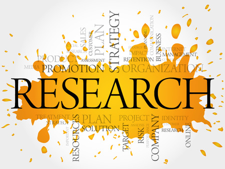 RESEARCH word cloud, business concept Illustration