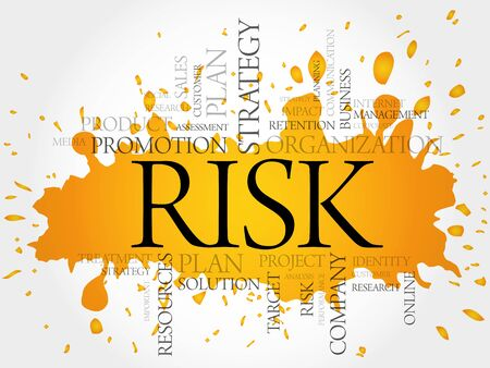 payoff: RISK word cloud, business concept