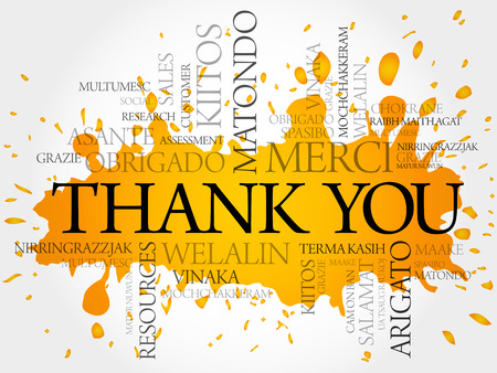 metadata: Thank You splash word cloud in vector format Illustration