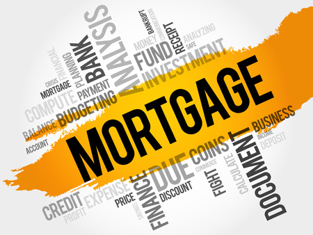 MORTGAGE word cloud, business concept Illustration