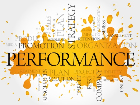 business performance: Performance word cloud, business concept