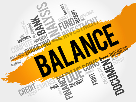 pecuniary: BALANCE word cloud, business concept