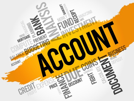auditing: ACCOUNT word cloud, business concept