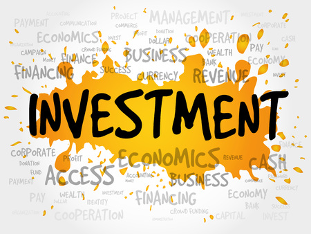 investment concept: INVESTMENT word cloud, business concept