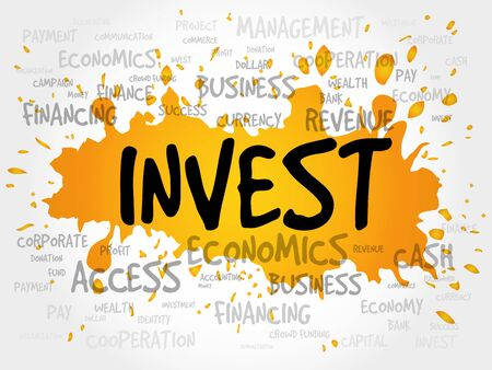 installment: INVEST word cloud, business concept