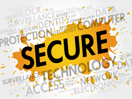 malicious software: SECURE word cloud, business concept