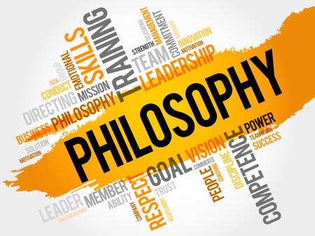 Filosofía nube de la palabra, concepto de negocio