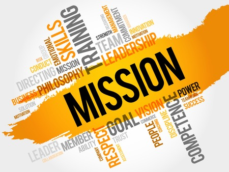 MISSION word cloud, business concept