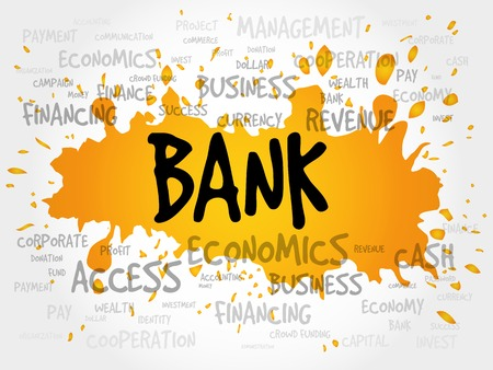 managed: BANK word cloud, business concept