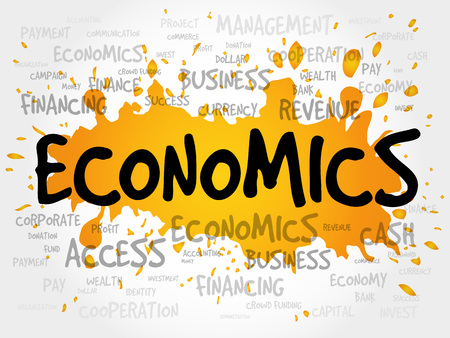 ECONOMICS word cloud, business concept