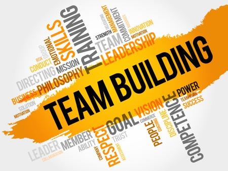 team building: TEAM BUILDING word cloud, business concept