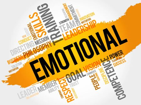 emotional: EMOTIONAL word cloud, business concept