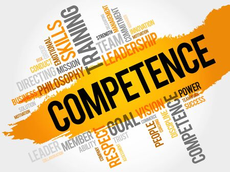 technologys: COMPETENCE word cloud, business concept