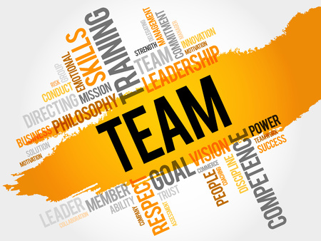 solved: TEAM word cloud, business concept
