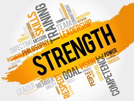 strength: STRENGTH word cloud, business concept