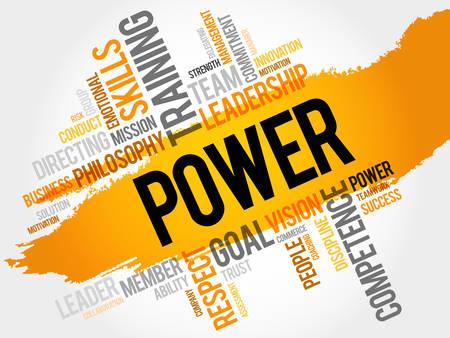 powerful creativity: POWER word cloud, business concept Illustration