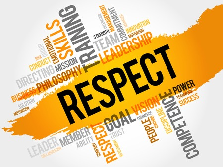 respectable: RESPECT word cloud, business concept