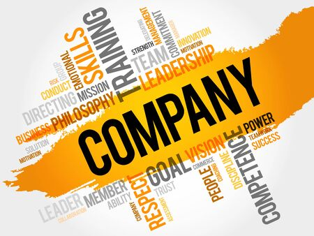 COMPANY word cloud, business concept