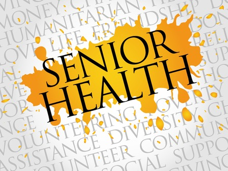 assisted: Senior health word cloud concept