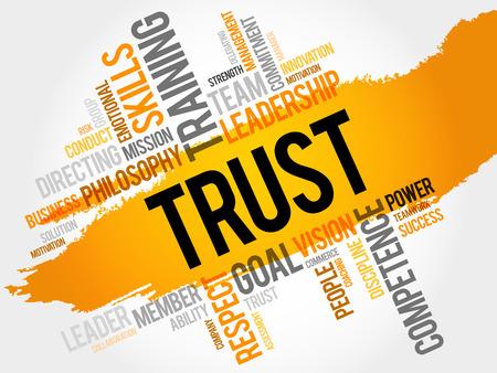 career coach: TRUST word cloud, business concept